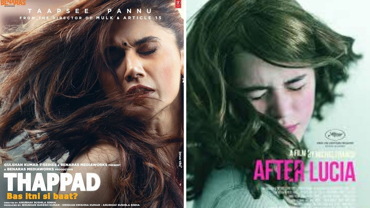 <i>Thappad</i> poster has been accused of being a copy of Mexican film <i>After Lucia</i>.