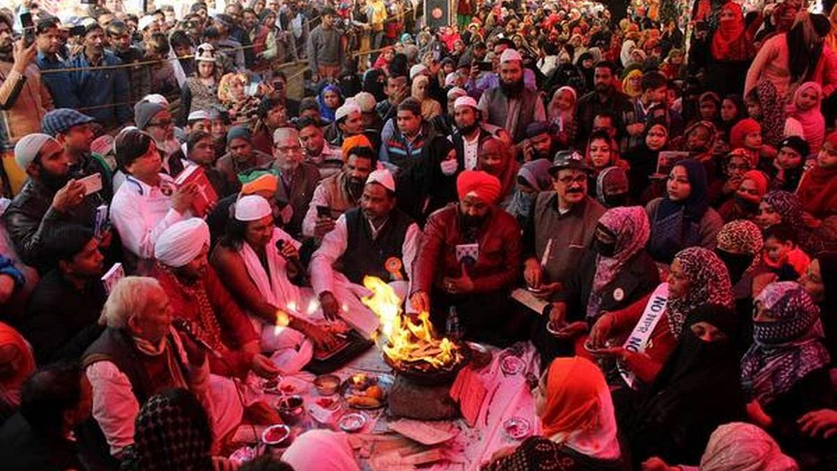 Jashn-e-ekta being organised at Shaheen Bagh