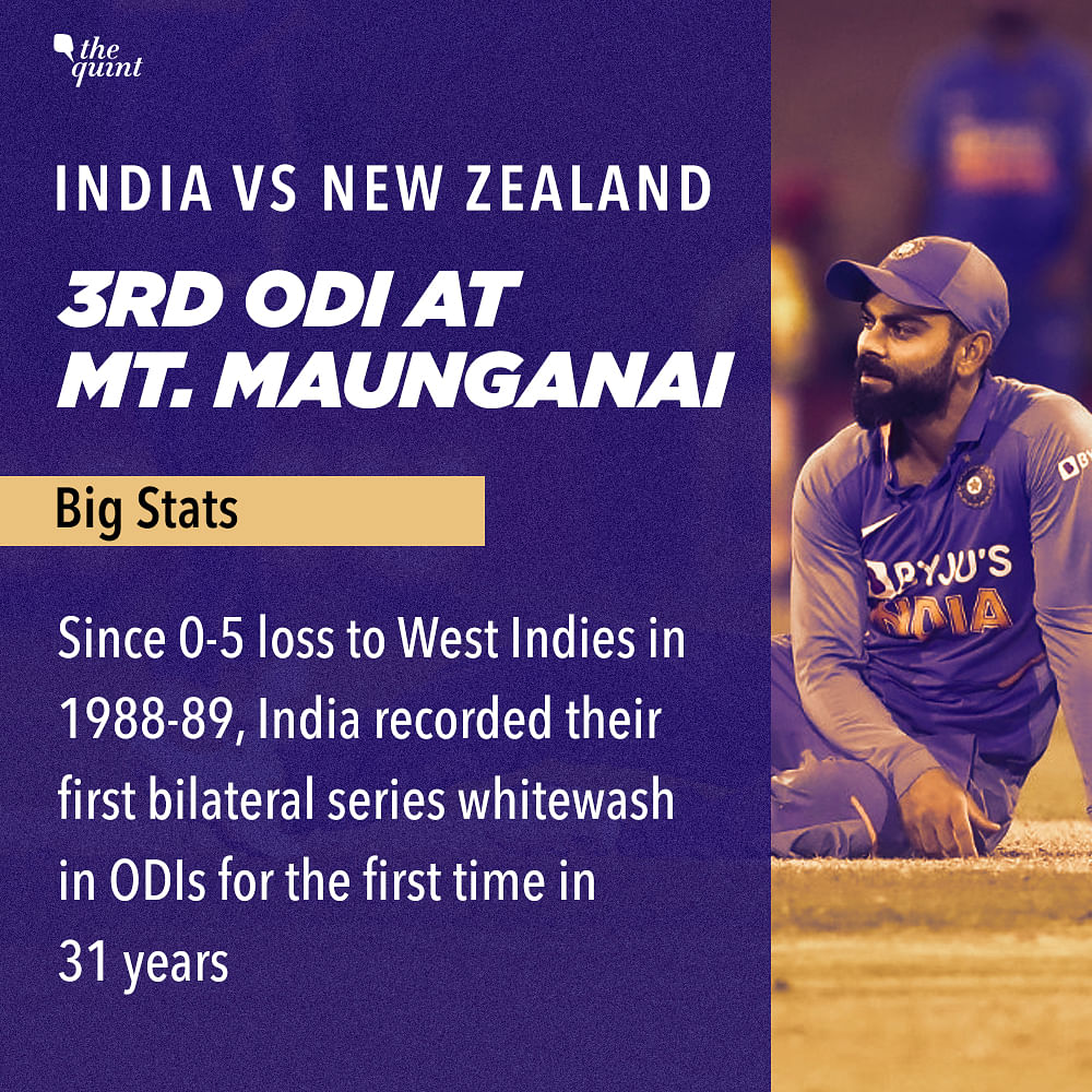 Stats: India Register a Dubious Record After Losing 3rd ODI vs NZ