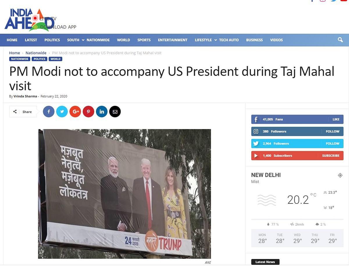PM Modi's Estranged Wife's Photo Morphed on 'Namaste Trump' Poster