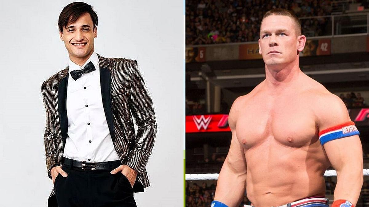 Asim (L); John Cena (R)