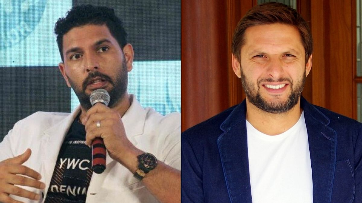 Yuvraj Singh (L) and Shahid Afridi. Image used for representation only.