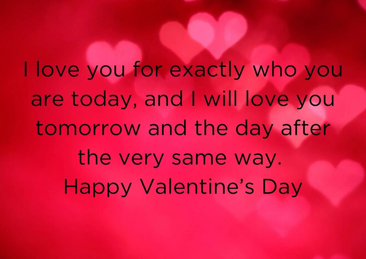 Valentine's Day wishes in English.