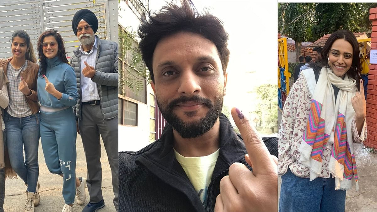 Taapsee, Zeeshan Ayyub, Swara Bhasker Vote In Delhi