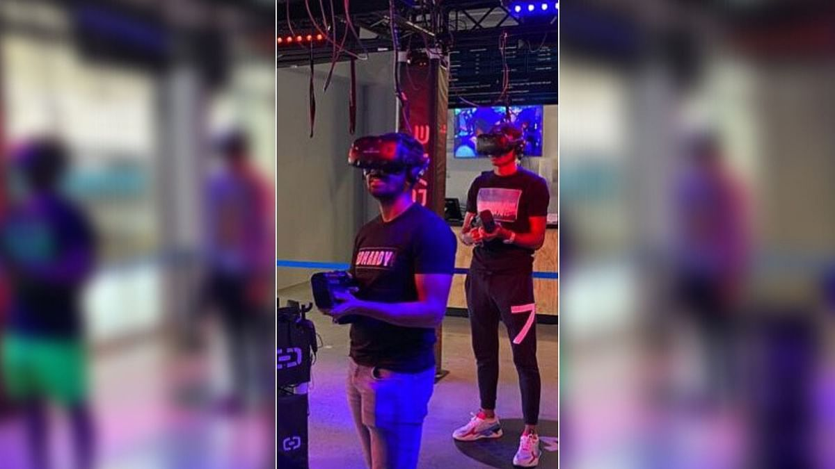 In the video, Saha is seen enjoying a virtual reality game with Mohammad Shami, Rishabh Pant, Shubhman Gill and Navdeep Saini.