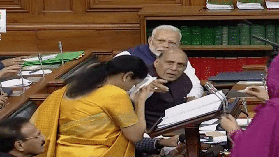 Sitharaman had only two pages of her Budget speech unread when she appeared uneasy and was seen wiping sweat from her forehead.