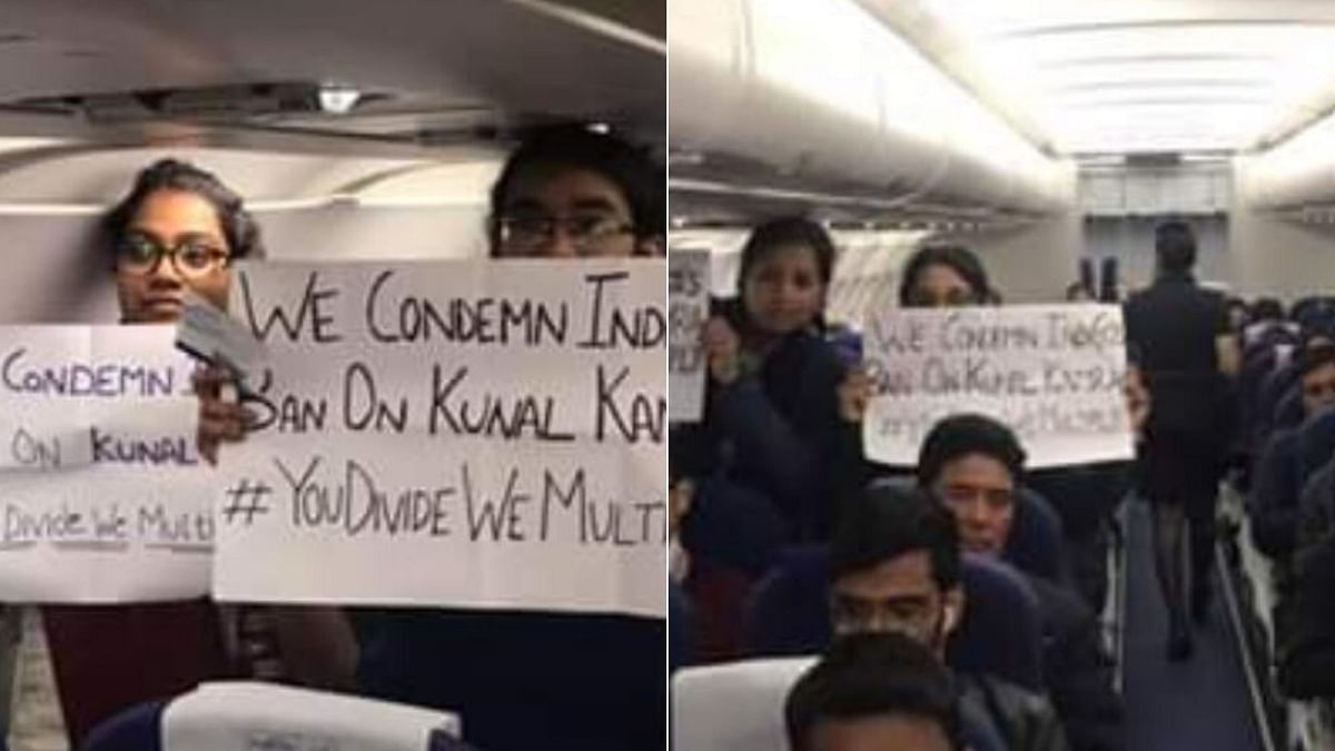 Flyers Protest Against Ban on Kunal Kamra, Inside Indigo Flight