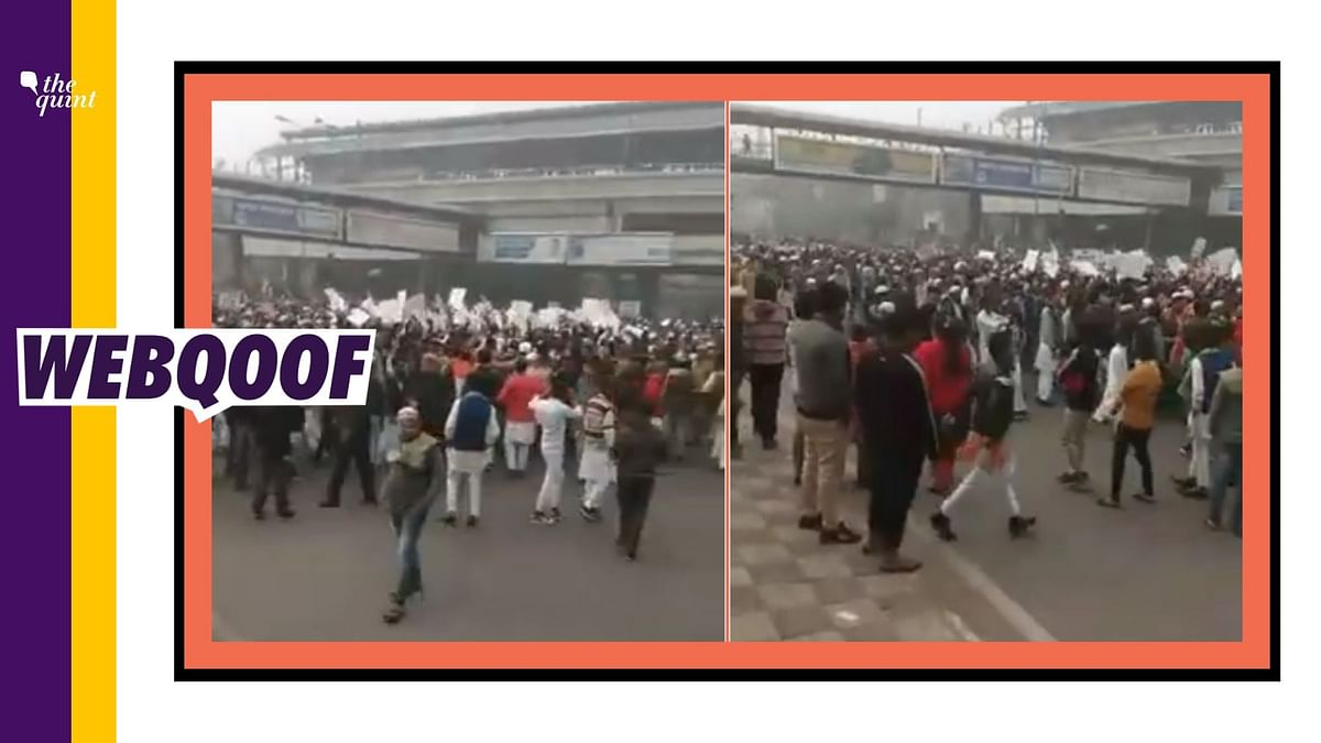 """A viral video is being falsely shared to claim that situation is tense in Delhi's Inderlok area """"right now."""""""