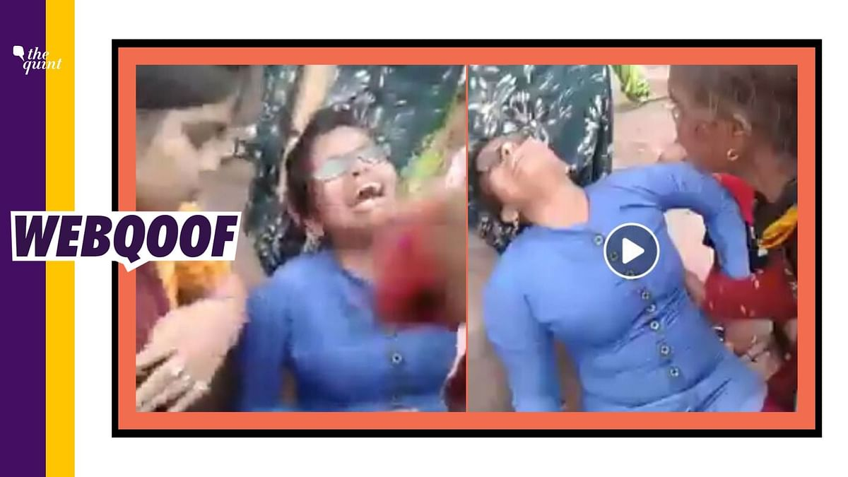 Old Video of UP Cops Hitting Pregnant Woman Shared Without Context