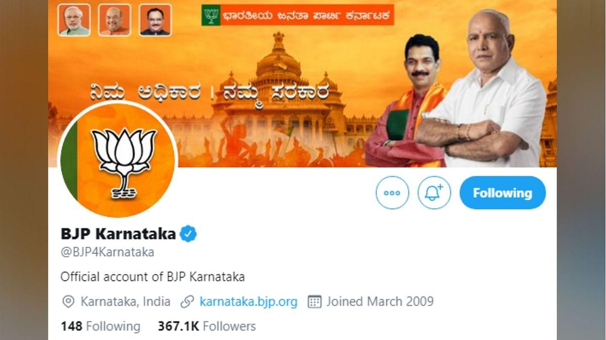 'Twitter Account Blocked For Speaking Truth,' Says Karnataka BJP