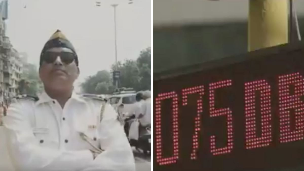 Stills from the video by Mumbai Police.