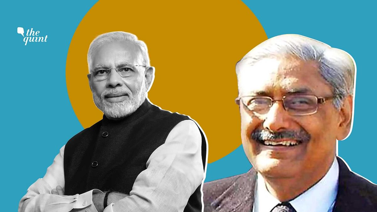 "Justice Arun Mishra (R) called Prime Minister Narendra Modi (L)""a versatile genius"" and an ""internationally-acclaimed visionary""."