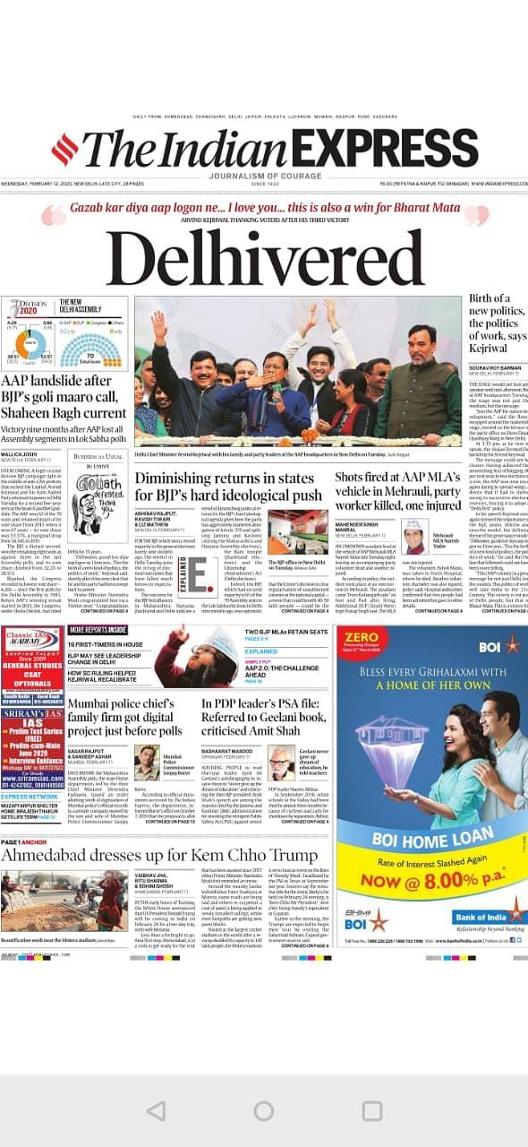'Delhivered' & 'Kejri Wali Dilli': Newspapers On AAP Victory