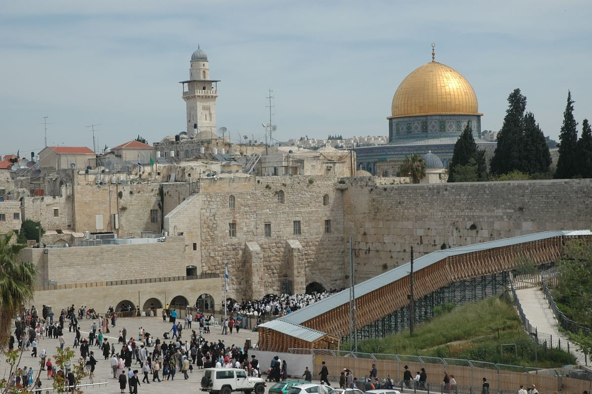 The Wailing Wall and Dome of the Rock. The Temple Mount, now occupied by the Dome of the Rock, has been the focal point of all groups wanting to establish cultural and religious hegemony over Jerusalem.