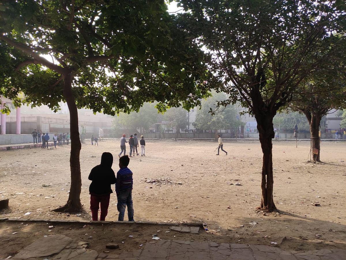 A public park in Mangolpuri.