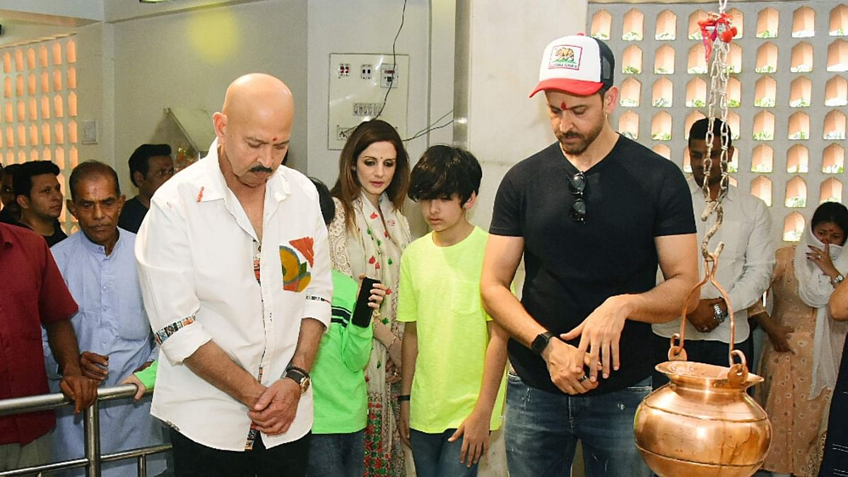 Pics: Hrithik Visits Temple With Sussanne, Sons on Maha Shivratri