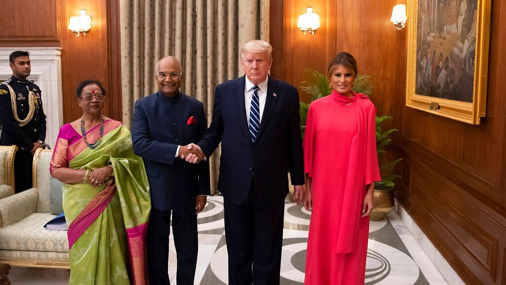 After attending a banquet dinner at the Rashtrapati Bhavan on Tuesday, 25 February, United States Donald Trump along with wife Melania Trump departed from Delhi.