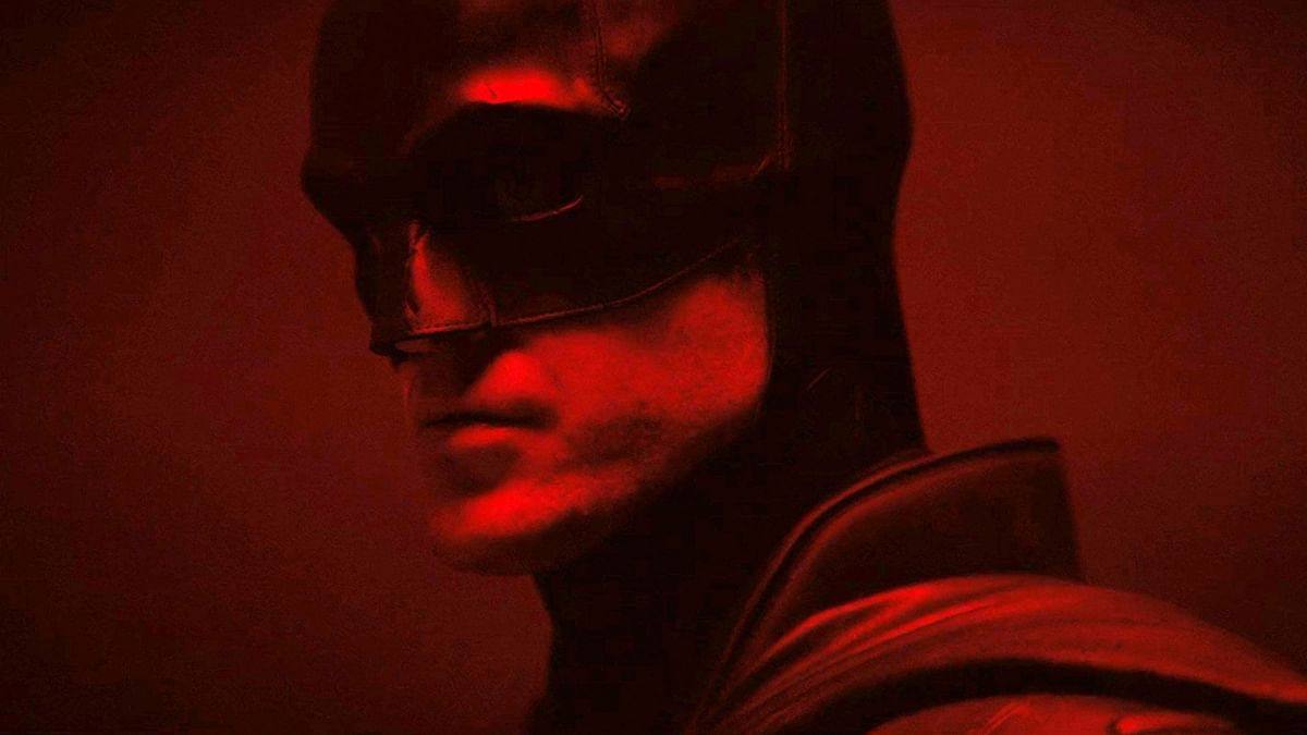 Robert Pattinson in and as <i>The Batman.</i>