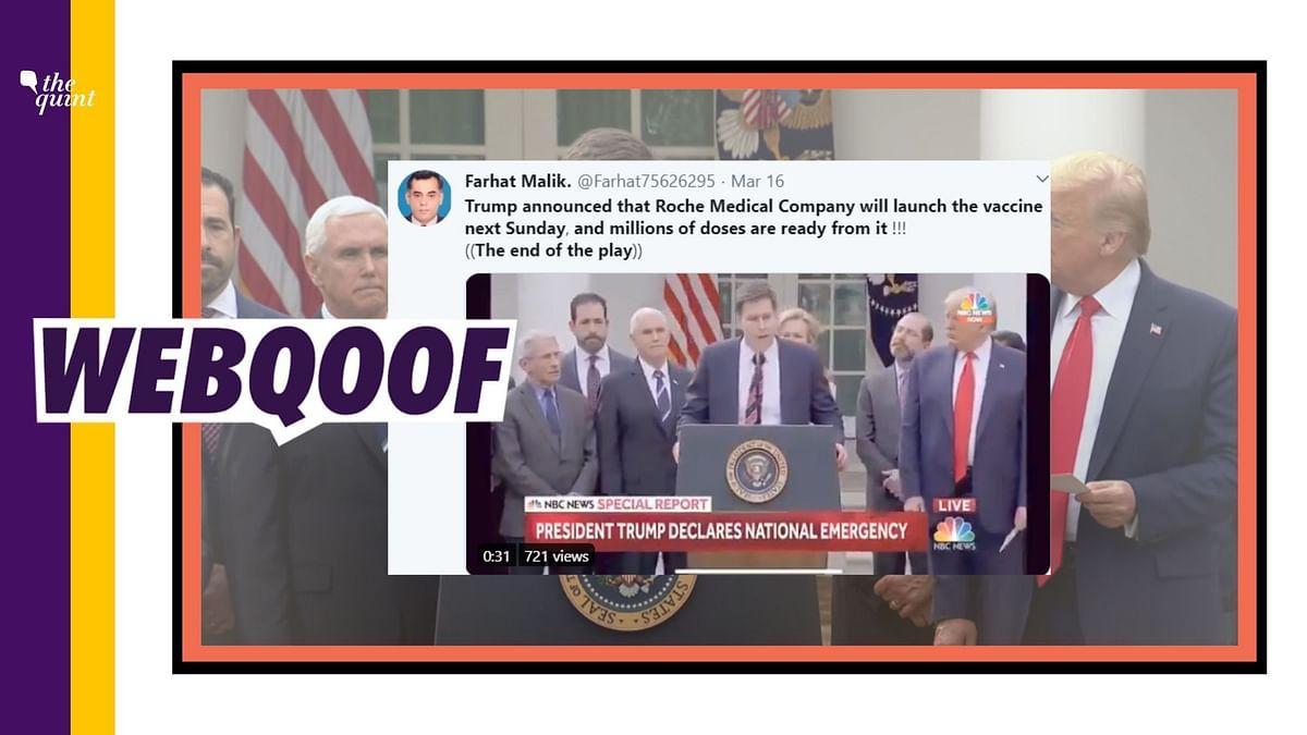 No, Trump Didn't Say Roche Medical  Announced Vaccine for COVID-19