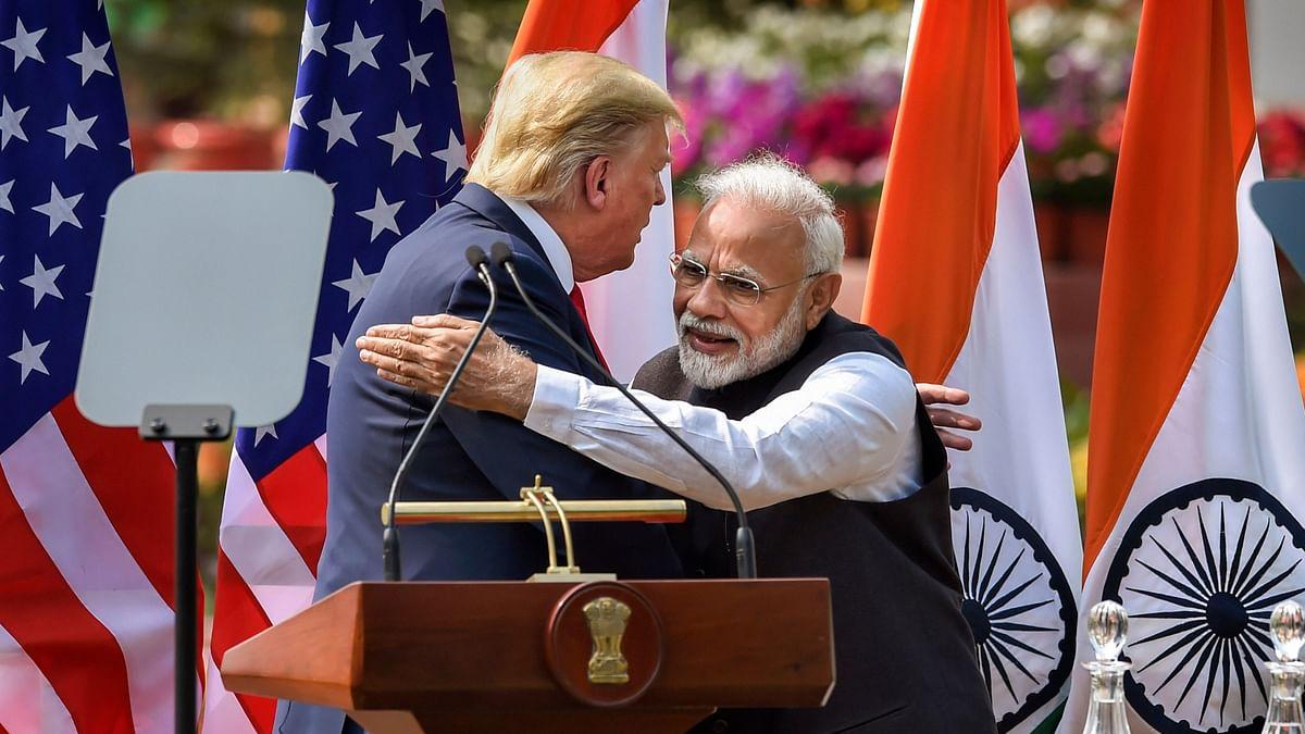 File picture of US President Donald Trump and Prime Minister Narendra Modi.