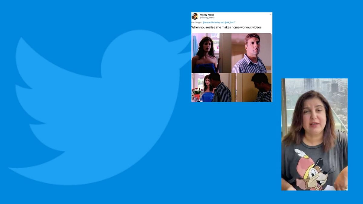 Twitter's not too happy with your home workout videos.