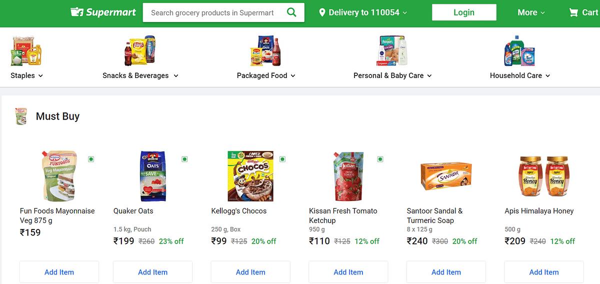 Flipkart's grocery segment is live now.