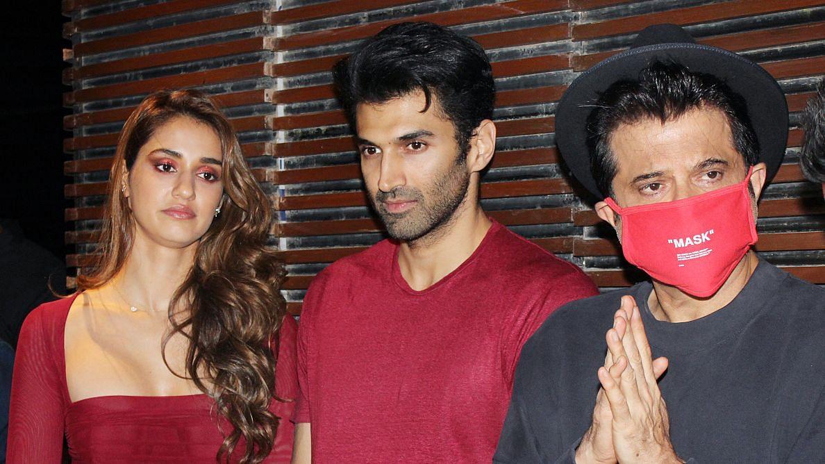 Anil Kapoor Protects Himself From The Coronavirus At The Malang Success Party With Disha Patani And Aditya Roy Kapoor