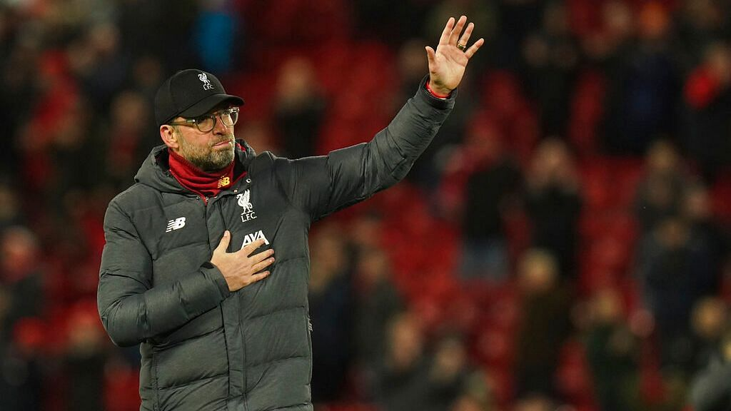 Liverpool lead the Premier League by 25 points, and needed only two more wins from its last nine games to clinch the title.