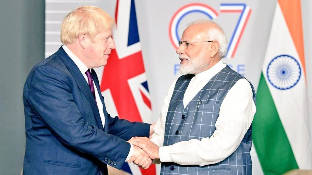 File photo of British Prime Minister Boris Johnson and Prime Minister Narendra Modi. Image used for representation.