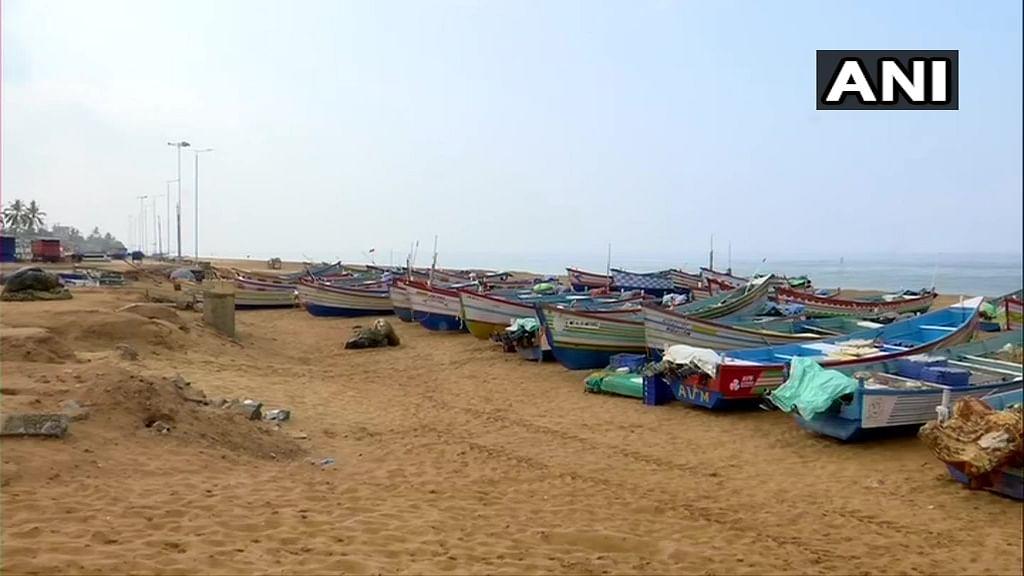 Shangumugham Beach, Trivandrum, was deserted.