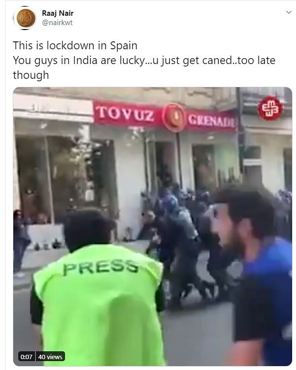 COVID-19: Old Video from Azerbaijan Shared as Lockdown in Spain