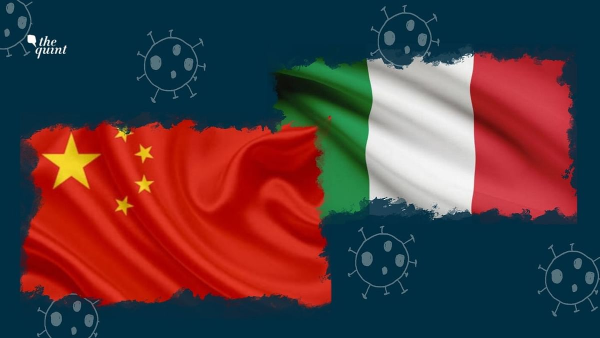 Image of Chinese flag (L) and Italian flag (R) used for representational purposes.