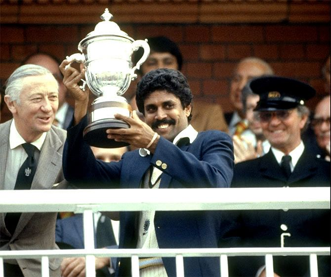 Kapil Dev's world cup moment in 1983.