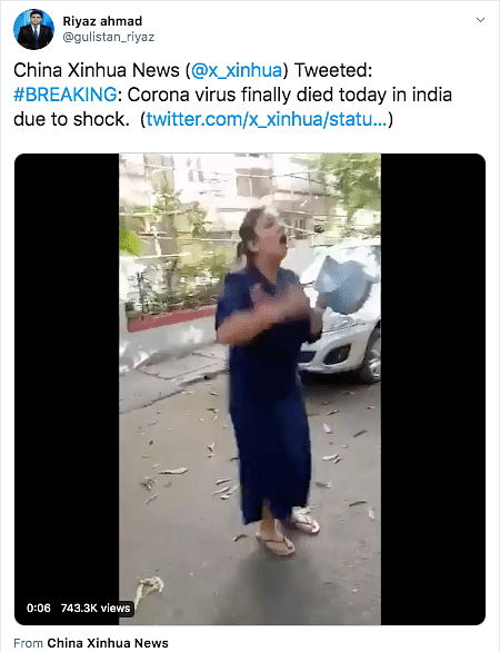 No, China's Xinhua News Did Not Mock India's Coronavirus Response