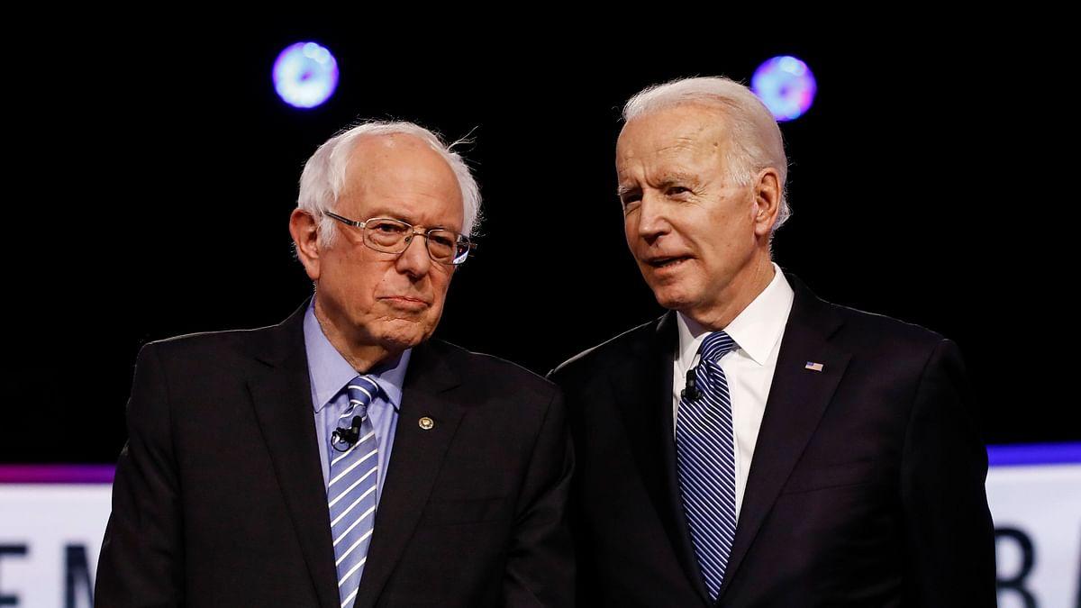 Bernie Sanders and former Vice President Joe Biden.