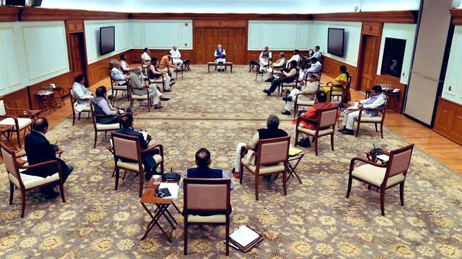 PM Modi's Cabinet Seen Practising Social Distancing at Meeting