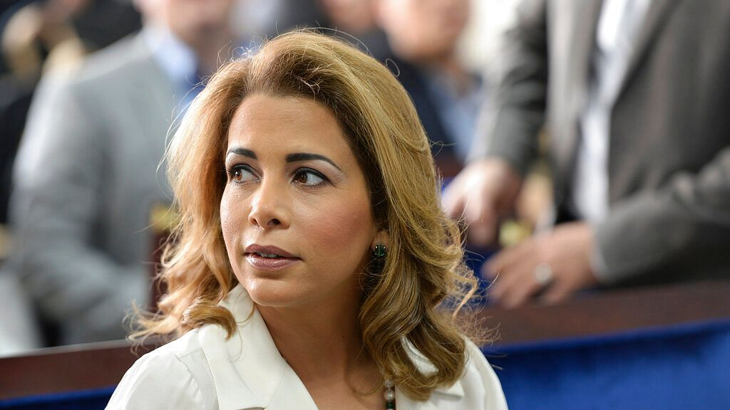 In this 17 January, 2016 file photo, Princess Haya bint al-Hussein, the wife of the Prime Minister of the UAE and Ruler of Dubai, attends a press conference in Dubai, United Arab Emirates.