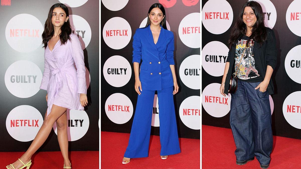 Pics: Alia, Zoya, Kiara Attend Screening of Netflix's 'Guilty'