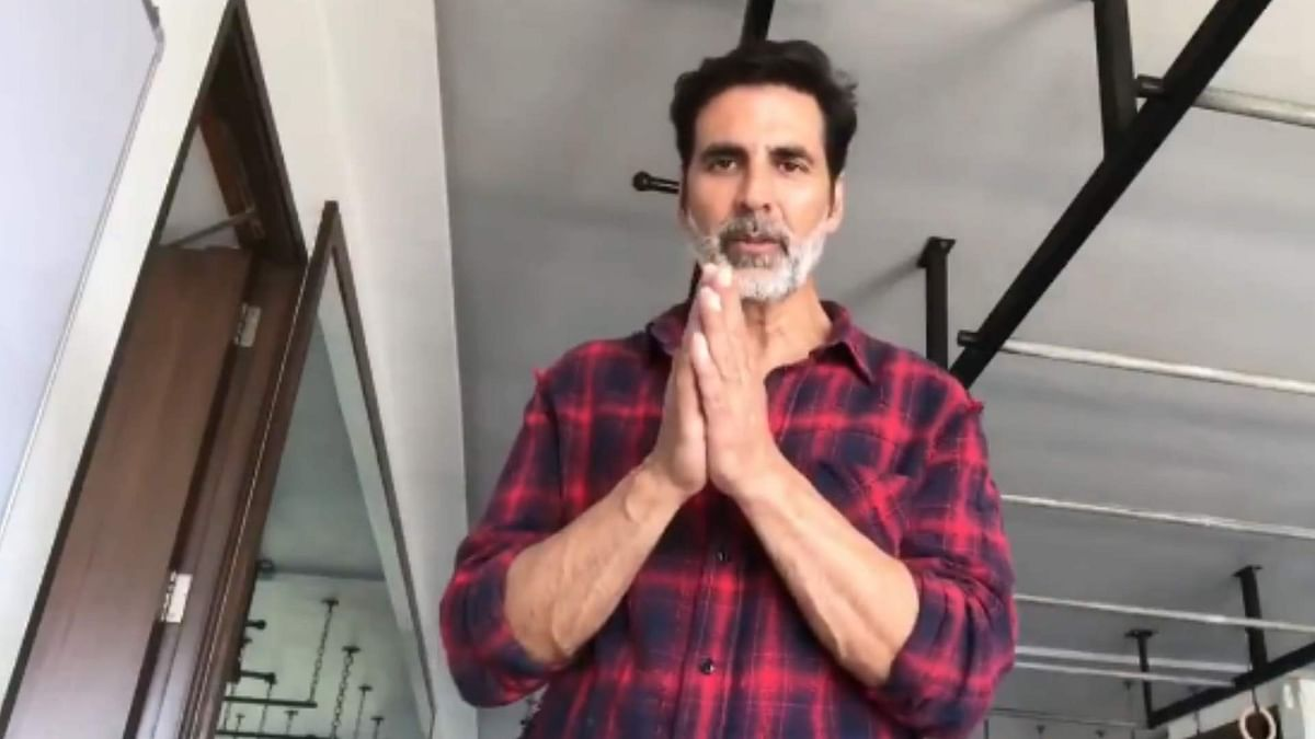 Akshay Kumar has posted a video message begging fans to stay indoors.