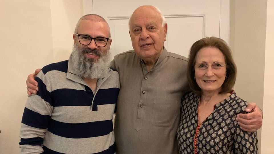 Omar Abdullah with his parents after release from detention.
