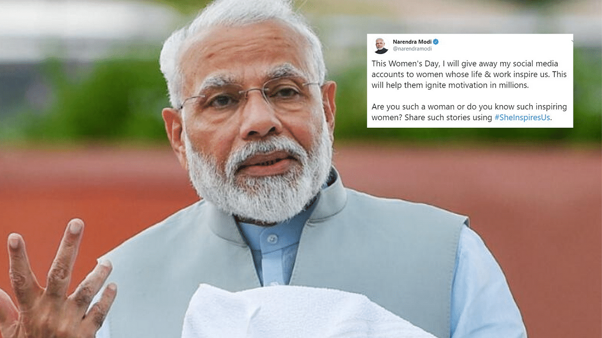 Handing Over Social Media Accounts for Women's Day: Modi Clarifies