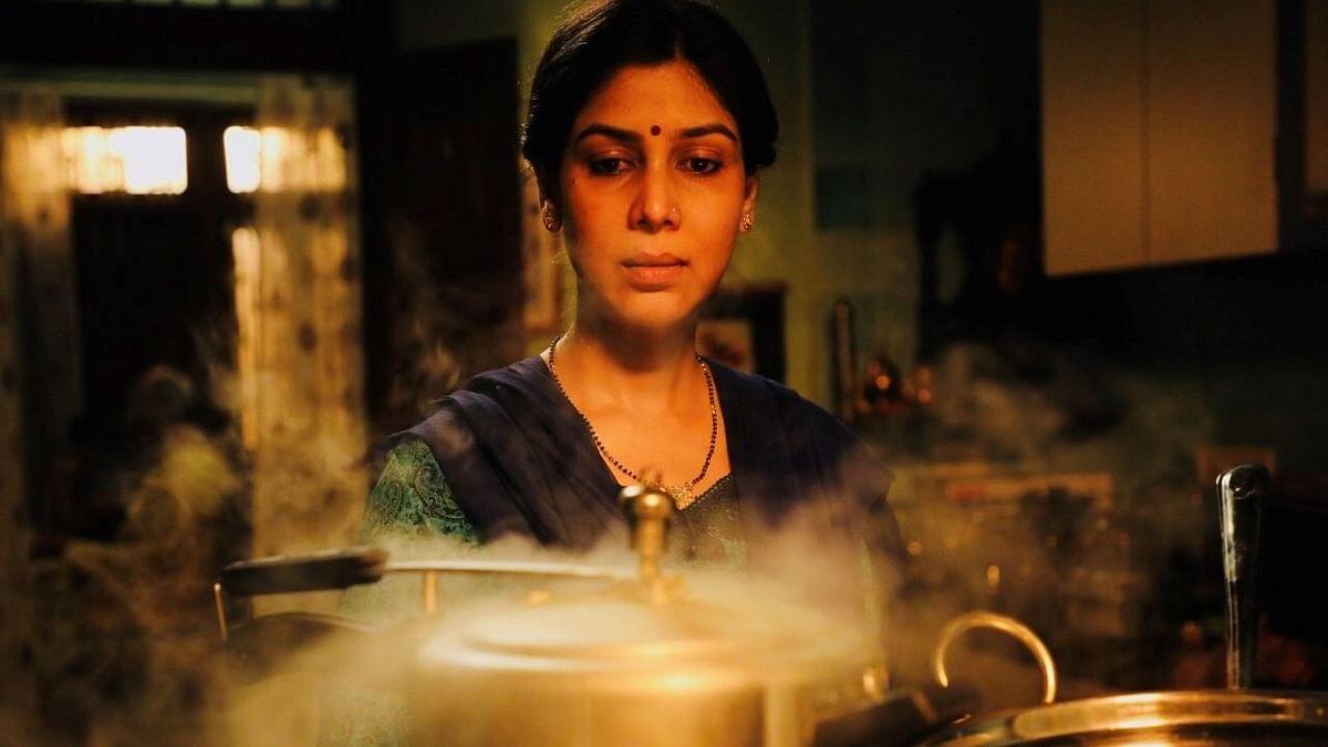 Sakshi Tanwar in a still from <i>Ghar Ki Murgi</i>.