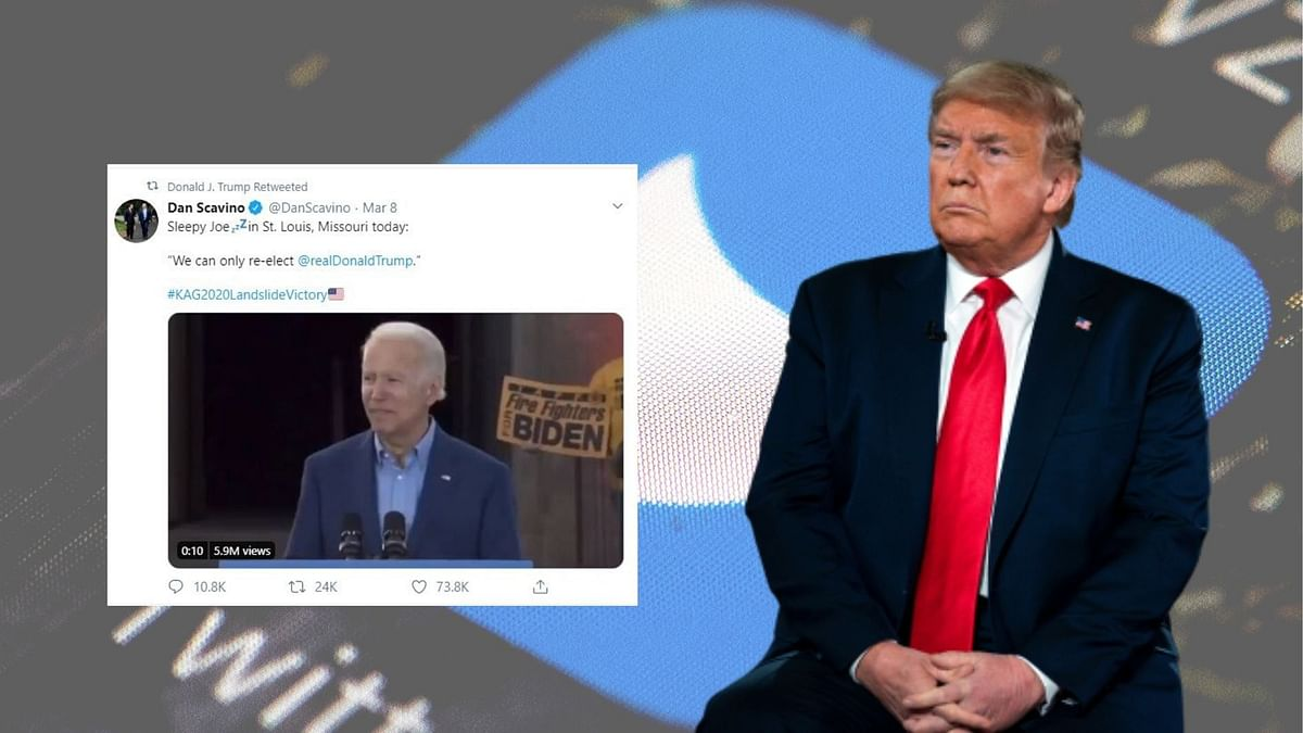 The video, a deceptive edit of former vice president Joe Biden was first shared by White House social media director Dan Scavino and subsequently retweeted by Donald Trump.