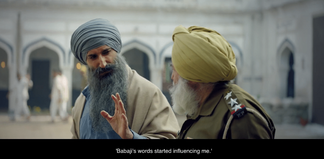 """An elderly Sikh policeman is shown as being """"influenced"""" by a top militant."""