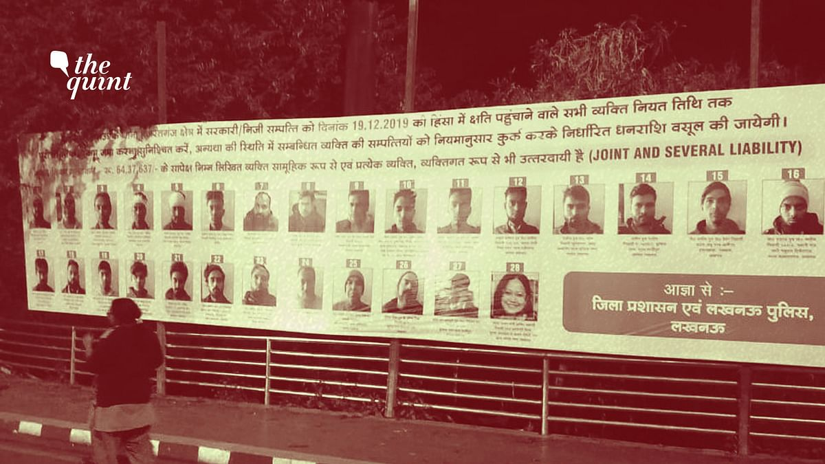 One of the banners in Lucknow