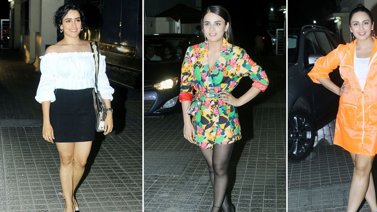 Pics:  Huma, Sanya Malhotra & More at 'Angrezi Medium' Screening