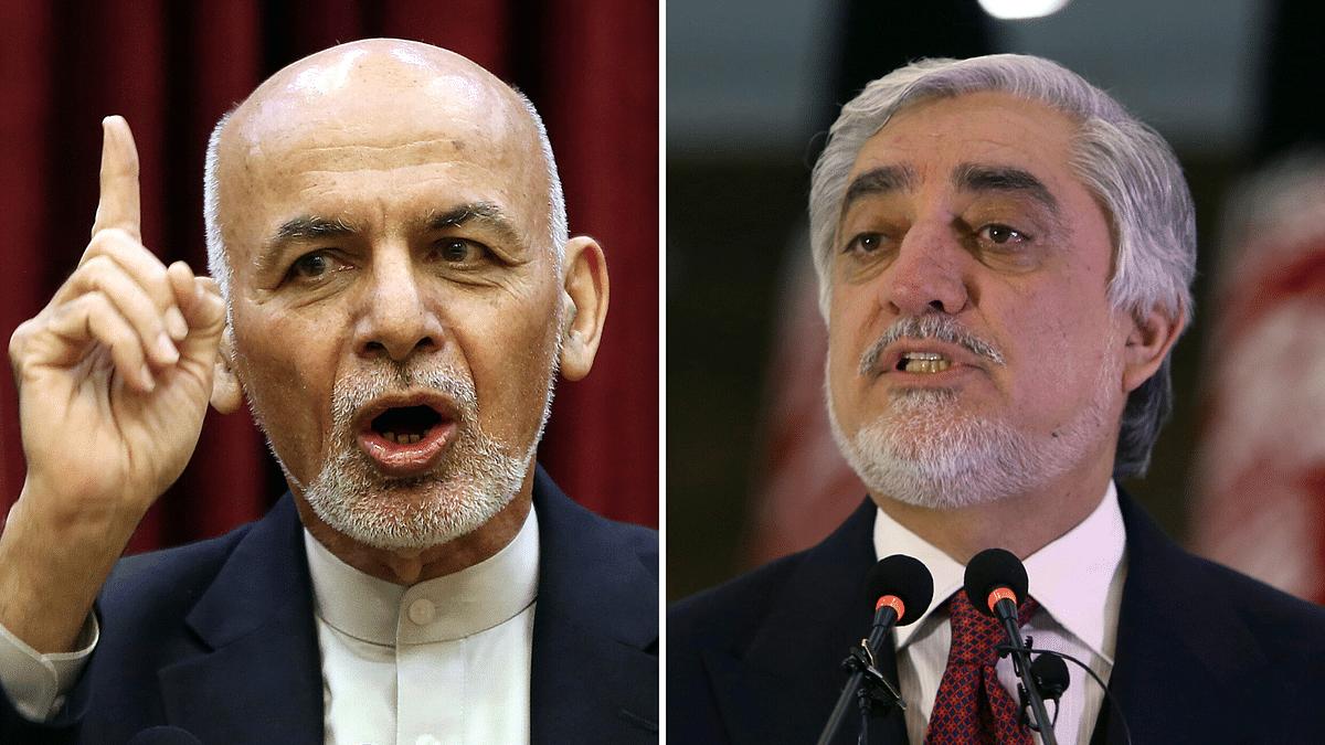 President Ashraf Ghani and his rival Abdullah Abdullah.