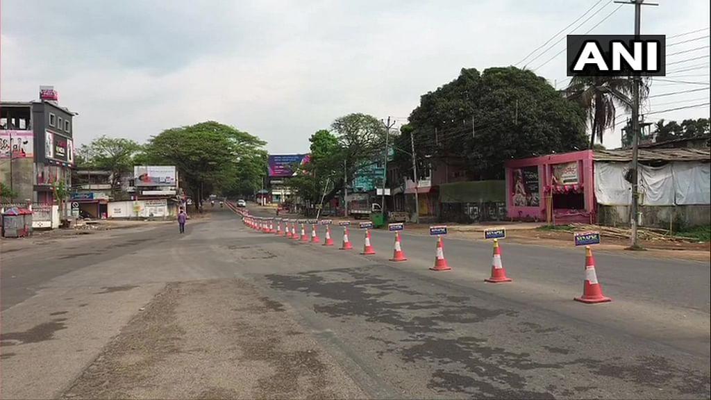 An empty street in Agartala.