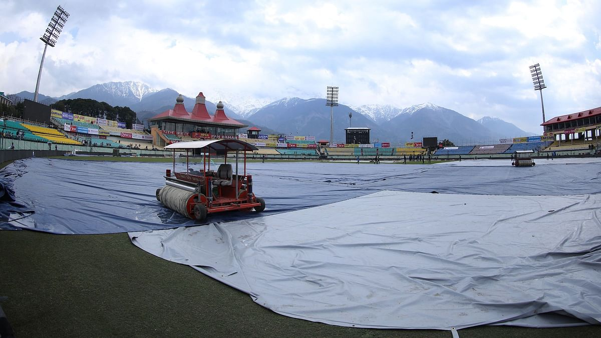 Three super-soppers were put into use but ground staff in Dharamshala failed to clear the ground.