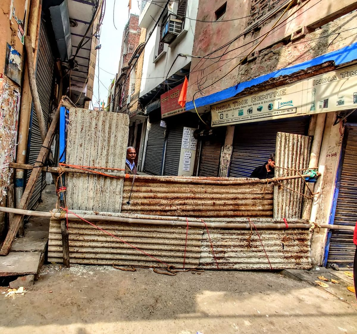 Primarily Hindu-dominated streets have been barricaded by residents to ensure no repeat of violence.